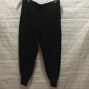J Crew black soft knit joggers sweatpants small